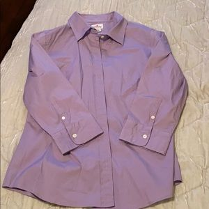 Like new J Crew cotton stretch oxford shirt size L